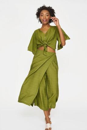 Batik Kadın Haki Duz Casual Bluz