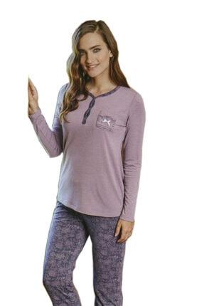 PJS PİJAMA Kadın Lila Pijama Takımı
