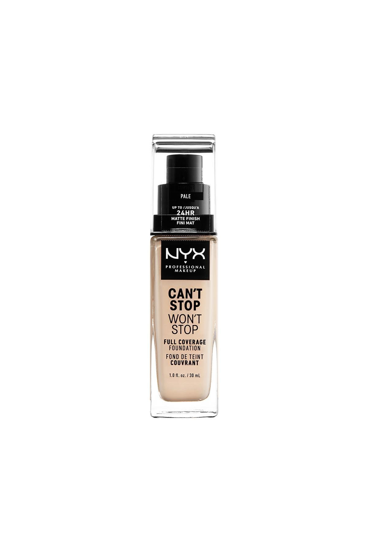 NYX Professional Makeup Fondöten - Can't Stop Won't Stop Full Coverage Foundation 01 Pale 30 ml 800897157173