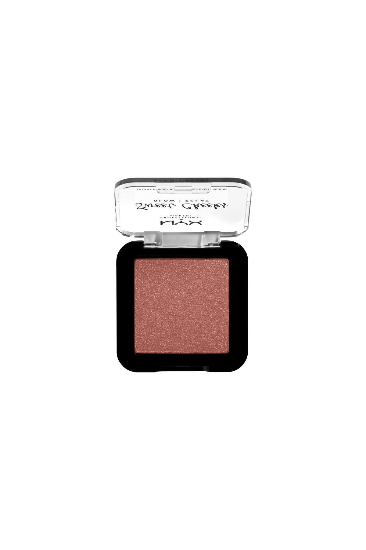 NYX Professional Makeup Işıltı Veren Allık - Sweet Cheeks Creamy Powder Blush Glow - Totally Chill 800897191917