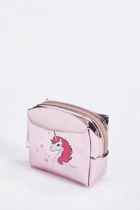 DeFacto Kadın Rose Unicorn Baskılı Fermuarlı Küçük Çanta S4626AZ20WN