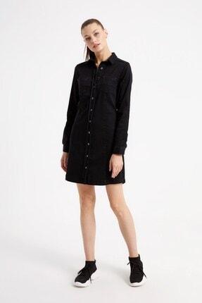 VENA Cesa Black Denim Elbise