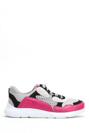 Ayakkabı Modası Kadın Pembe Suni Deri Air File Ayakkabı