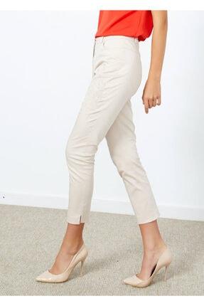 Cazador Kadın Bej Desenli Cepli Pantolon