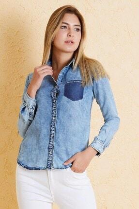 Twister Jeans Twıster Jeans Bg 810-02 Kadın Kot Gömlek Mavi
