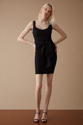 Keikei Kadın Siyah Krep Kolsuz Kısa Elbise