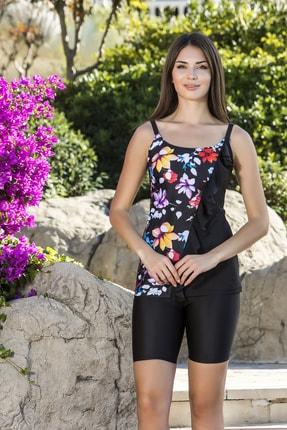 Armes Kadın Siyah Taytlı Elbise Mayo