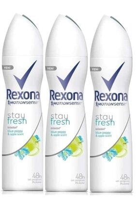 Rexona Stay Fresh Edt 150 ml x3 Kadın Deodorant Sprey 8690637886157
