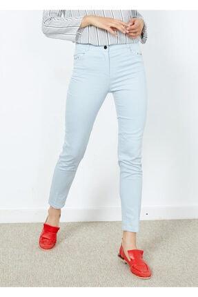 Cazador Kadın Mavi Slim Fit Likralı Pantalon