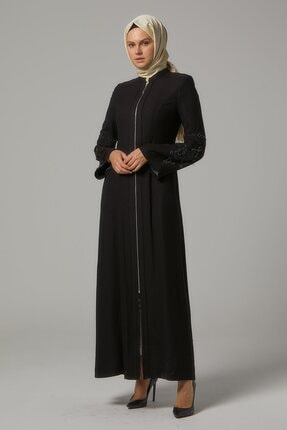 Doque Kadın Siyah Tam Boy Pardesü Do-b9-65043-26