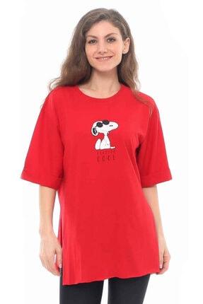 Cazador Cdr 2520 Snoopy Baskılı Tişört Kırmızı