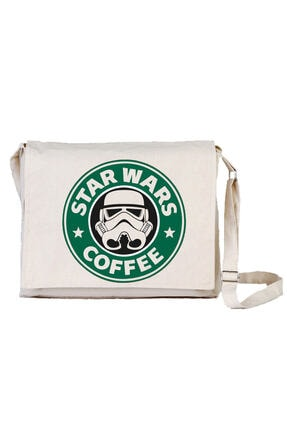 Art T-shirt Star Wars Coffee Bez Postacı Çantası