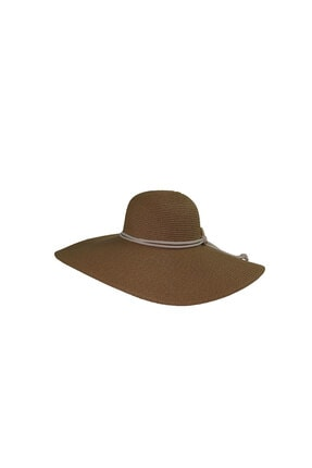Bay Şapkaci Kadın Kahve İpli Hasır Şapka