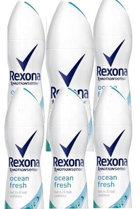 Rexona Kadın Deodorant Sprey Ocean Fresh 150 ml x 6