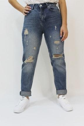 Twister Jeans Sandy 9368-01 Mom Yırtık Detaylı Kadın Kot Pantolon