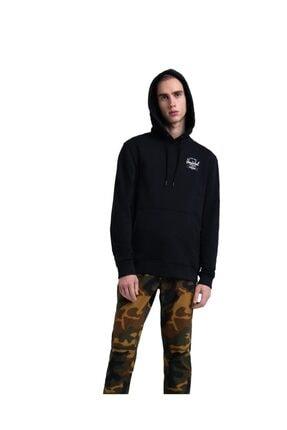 Herschel Erkek Siyah Baskılı Sweatshirt