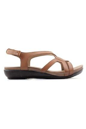 Venüs 206 Taba Deri Comfort Terlik Sandalet