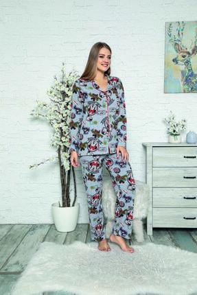 Cansoy Önden Düğmeli Pijama Takımı