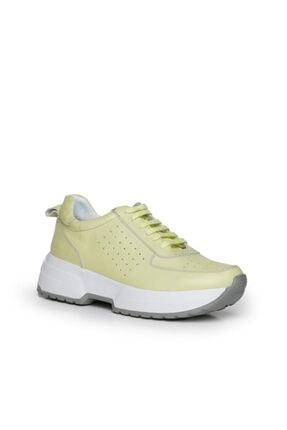 Beta Hakiki Deri Kadın Sneaker Spor Ayakkabı Sarı