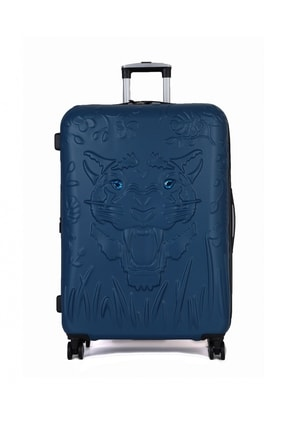 ITLUGGAGE Unisex Mavi Tiger Eyes Büyük Boy Valiz 16225108