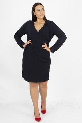 Şans Kadın Siyah Dantel Detaylı Anvelop Elbise 65N18149