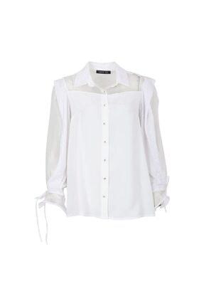 Ayhan 50439 Kadın Gömlek Ekru