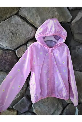 Elif Bebe Kız Çocuk Pembe Yağmurluk