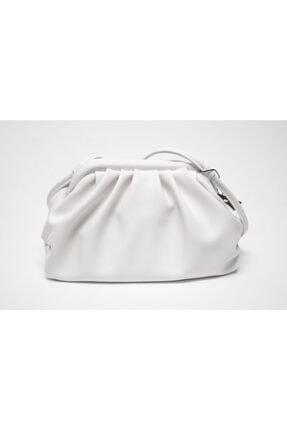 Matthew Cox Kadın Beyaz Pileli Çapraz Çanta