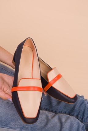 SOHO Lacivert-Orange Kadın Babet 15441