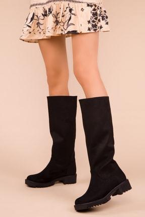 SOHO Siyah Süet Kadın Çizme 15431