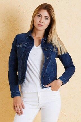 Twister Jeans Kadın Kot Ceket J05-04 Lacivert