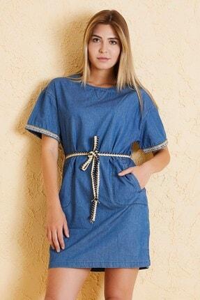 Twister Jeans Kadın Tensel Elbise 8011-06 Mavi
