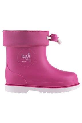 IGOR Kız Çocuk Pembe Yağmur Çizmesi Bımbı Nautıco W10225-ıgr007