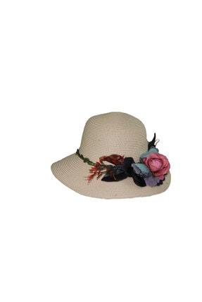 Bay Şapkaci Kadın Beyaz Hasır Şapka