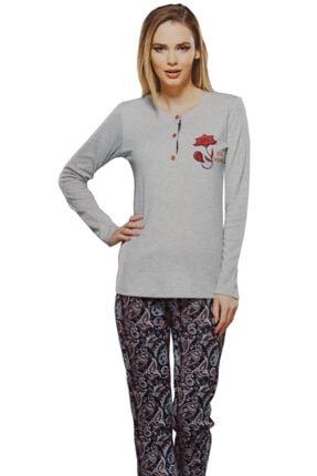 PJS PİJAMA Kadın Kırmızı Pijama Takımı