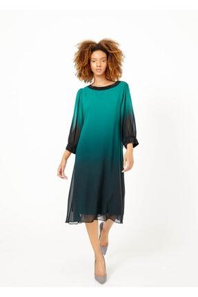 Cazador Kadın Yeşil Astarlı Taşlı Elbise