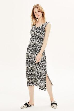 Naramaxx V Yaka Yırtmaçlı Elbise