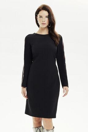 Naramaxx Diz Üstü Siyah Elbise