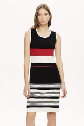 Naramaxx Çizgili Triko Elbise