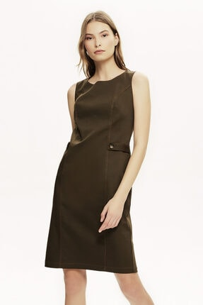 Naramaxx Sıfır Kol Ön Detaylı Elbise
