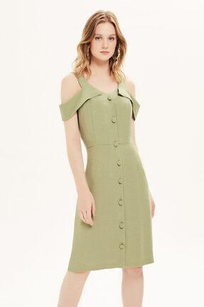 Naramaxx Omuz Dekolteli Yeşil Elbise