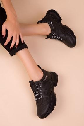 SOHO Siyah-Siyah Kadın Sneaker 15488