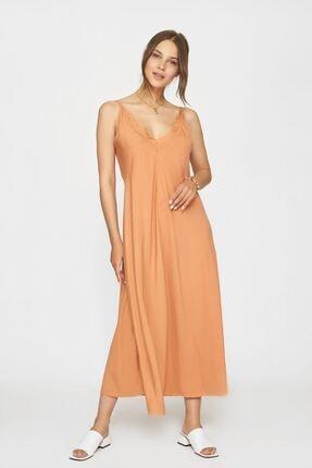 Batik Kadın Turuncu  Casual Elbise