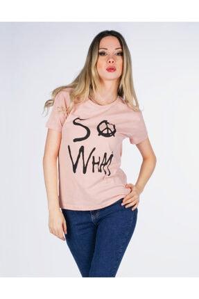 Vision Kadın Pudra Baskılı T-shirt