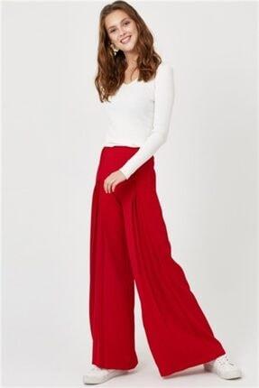 Setre Kadın Koyu Kırmızı Pileli Pantolon