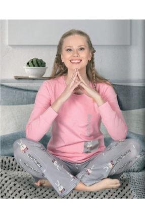 Jiber Kadın Pembe Modal Pijama Takımı