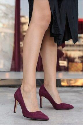 Mio Gusto Kadın Bordo   Basic Stiletto