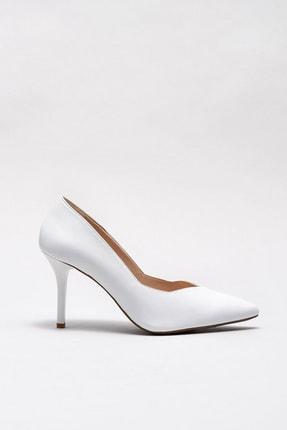 Elle POIPUU Hakiki Deri Beyaz Kadın Ayakkabı