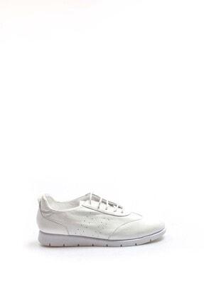 Fast Step Hakiki Deri Beyaz Kadın Casual Ayakkabı 942za21m1137
