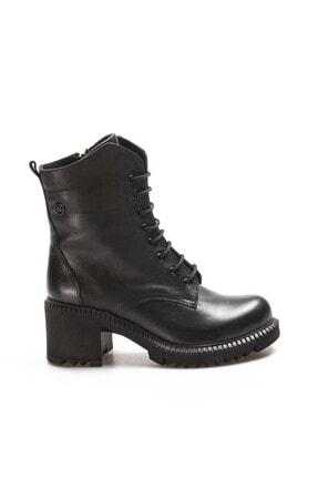 Fast Step Hakiki Deri Siyah Kadın Kalın Topuklu Bot 407sza3031